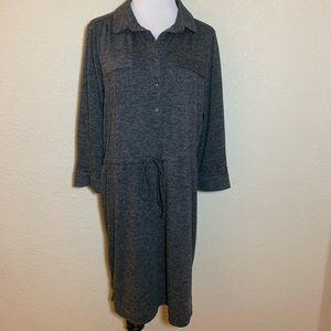 Ann Taylor Loft  A-line Dress Collared Belted